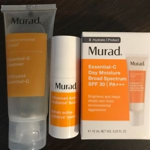 Murad vitamin c serum, cleaner, & moisturizer spf